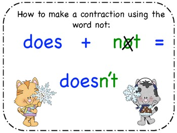 Contractions are SNOW much fun!