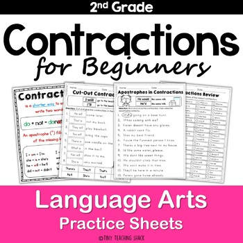 Contractions for Beginners Common Core Practice Sheets L.2.2.C