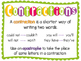 Contractions for Beginners Practice Sheets