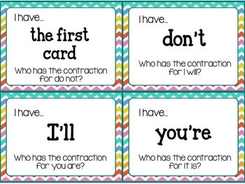Contractions Activities, Centers, & Games