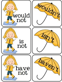 https://www.teacherspayteachers.com/Product/Contractions-for-a-Rainy-Day-188650