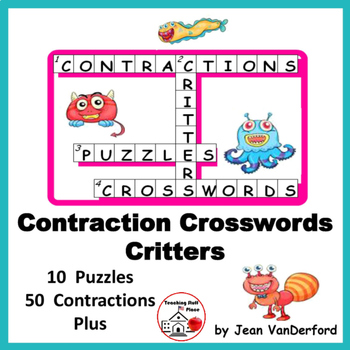 CONTRACTIONS | Vocabulary | Lists | CROSSWORD PUZZLES | Gr 3-4-5 CORE