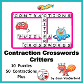 CONTRACTIONS CROSSWORD PUZZLES ... PLUS FREE DIGITAL DECK Gr 3-4-5