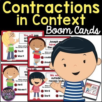 Contractions in Context Boom Cards