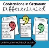 Contractions in Grammar - Interactive Notebook