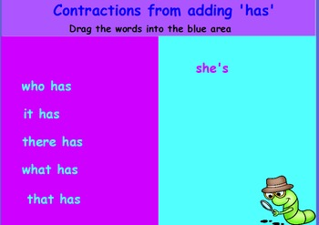 Contractions interactive whiteboard activities
