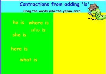 Contractions interactive whiteboard activities