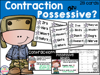 Contractions or Possessive Nouns Hunt