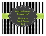 Contractions or Possessives? A Station or Small Group Sort