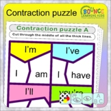 Contractions puzzle (30 distance learning worksheets for l