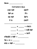 Contractions quiz