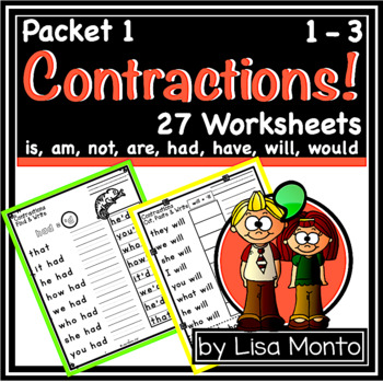 Contractions! (set 1) by Lisa Monto