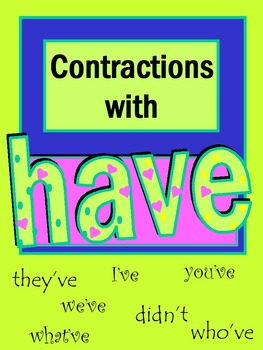 Contractions with Have