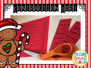 Contractions with NOT {Task Cards & Sort It Activity}