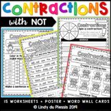 Contractions worksheets, posters & more (with NOT)