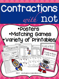 Contractions with 'Not' Printables and Activities
