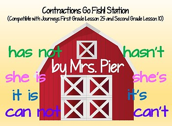 Contractions with Not & Pronouns (Compatible with Journeys 1st Grade Lesson 25)