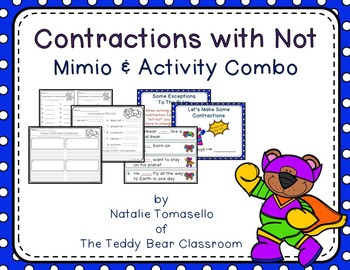 Contractions with Not - Read the Room, Center, and Mimio Combo