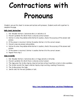 Contractions with Pronouns