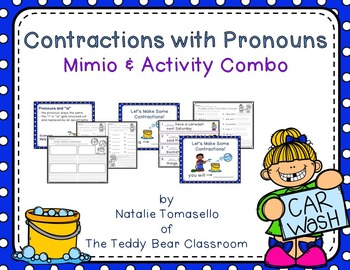 Contractions with Pronouns - Read the Room, Center, and Mimio Combo