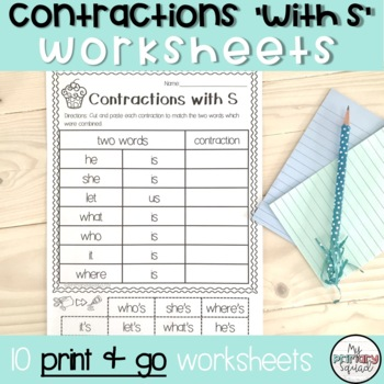 Contractions with s Worksheets