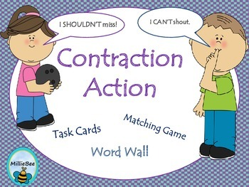 Contractions Word Wall and Center Activities