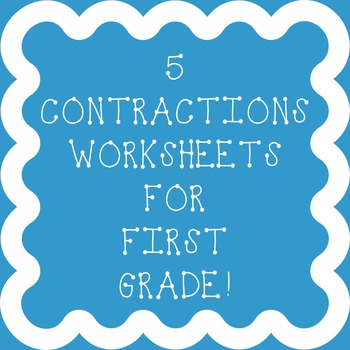 Contractions Worksheets For First Grade Teaching Resources ...