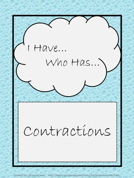 Contractions_I Have...Who Has...