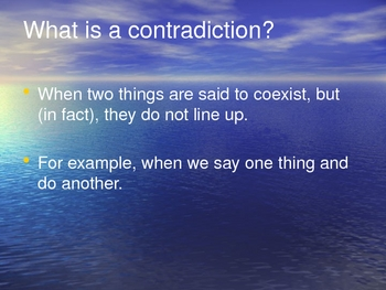 Contradictions and Paradoxes