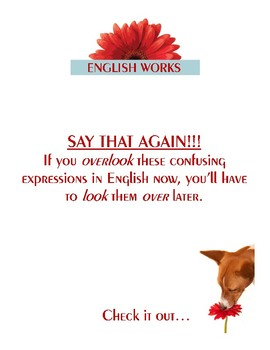 SAY THAT AGAIN!!! - Confusing expressions in English