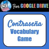 Contraseña (Password) Vocabulary Game for Spanish Class *freebie*