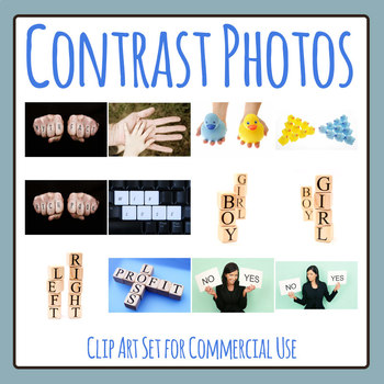 Contrast Photos / Photographs Clip Art Set for Commercial Use