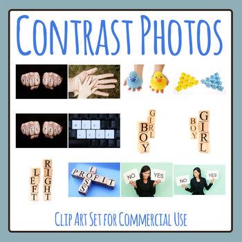 Contrast Photos / Photographs Clip Art Set for Commercial Use