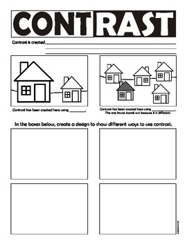 contrast principles of art design worksheet usa spelling by artsycat. Black Bedroom Furniture Sets. Home Design Ideas
