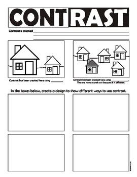 Contrast (Principles of Art/Design) Worksheet (USA spelling)