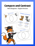 Compare and Contrast - Venn Diagrams - in English