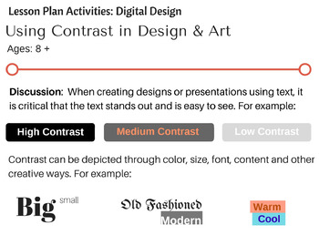Contrast in Digital Design & Art