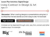 Contrast in Digital Design & Art
