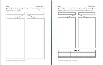 Contrasting 2 Items Graphic Organizer