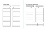 Contrasting 2 Items with lines Graphic Organizer