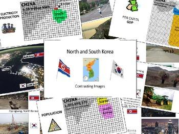 Contrasting North & South Korea using Cartograms