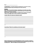 Contrasts & Contradictions Worksheet