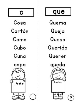 Contrasts and Silent H Booklets in Spanish