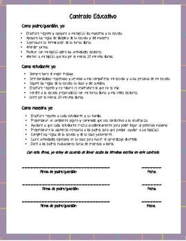 Contrato Educativo (Educational contract)