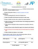 Contrato académico | Behavior & Academic Contract for Spanish class. Bilingual