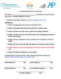 Contrato académico | Behavior & Academic Contract for Spanish class. Bilingual
