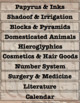 Contributions of Ancient Egypt Mural Activity Egyptians Vocabulary