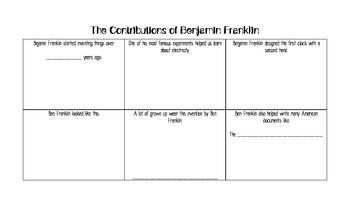 Contributions of Benjamin Franklin