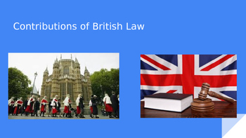 Contributions of British Law to the Founding of the U.S. Government