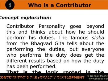 Contributor's Personality Development
